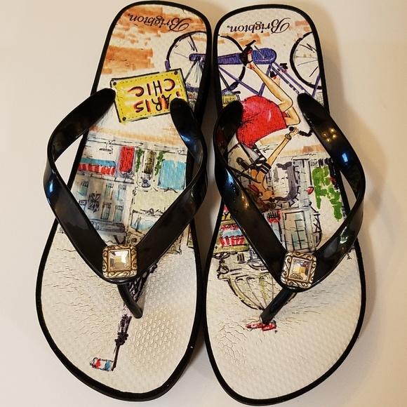dcfd57391c10be Brighton Shoes - Brighton Flip Flop 8 Paris Chic Theme Rhinestones